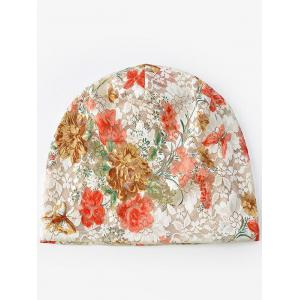 Bonnet Souple en Dentelle Motif Floral Style Simple -