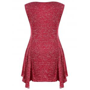 Plus Size Marled Cowl Neck Tunic Tank Top -