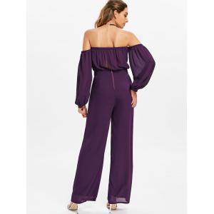 Puff Sleeves Off Shoulder Palazzo Jumpsuit -