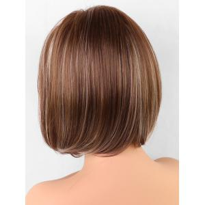 Medium Side Bang Synthetic Colormix Straight Bob Wig -
