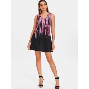 Tie Dyed Print Casual Dress -