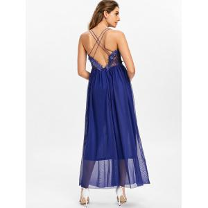 Strappy Backless Applique Maxi Dress -