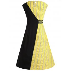 Two Tone Sleeveless Casual Dress -
