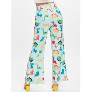 High Waisted Cartoon Dinosaur Printed Pants -