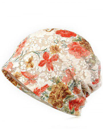 Bonnet Souple en Dentelle Motif Floral Style Simple