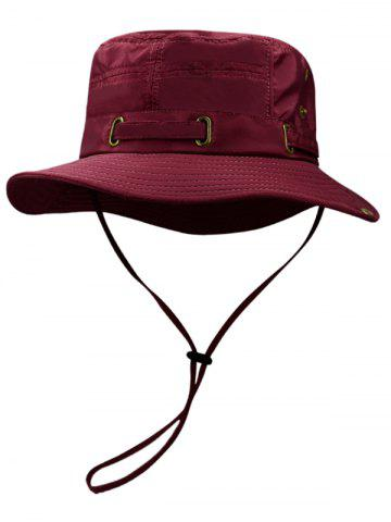 Hot Outdoor Line Embroidery Breathable Bucket Hat