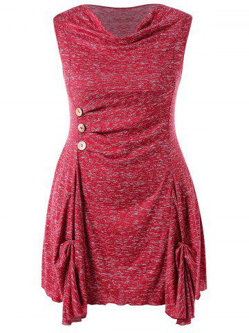 Plus Size Marled Cowl Neck Tunic Tank Top