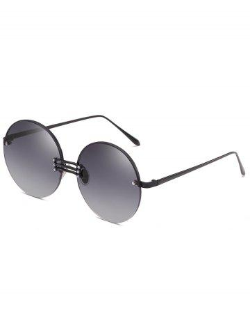Outfit Vintage Rimless Circle Sun Shades Sunglasses
