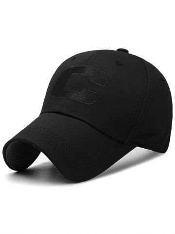 Trendy Letter C Embroidery Adjustable Sunscreen Hat