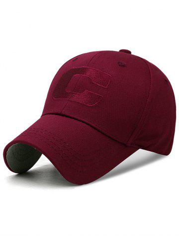 Latest Letter C Embroidery Adjustable Sunscreen Hat
