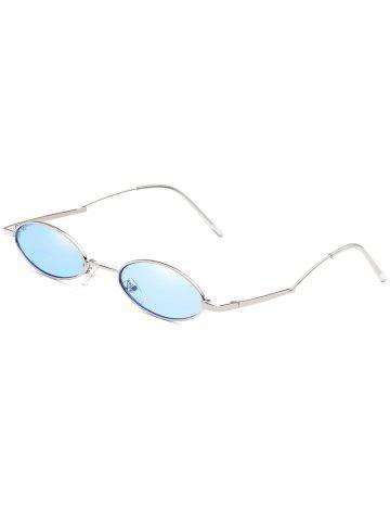 Affordable Anti Fatigue Metal Full Frame Oval Sunglasses