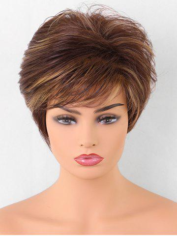 Sale Inclined Bang Short Straight Colormix Synthetic Wig