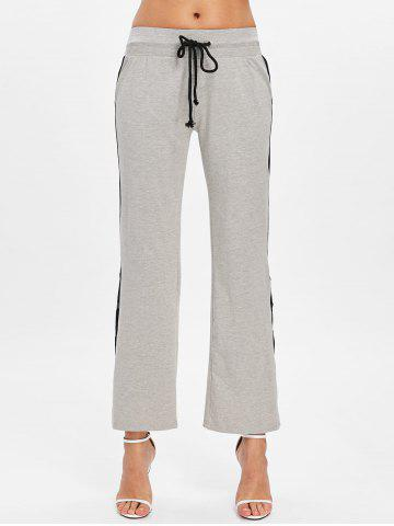 Button Side Casual Ninth Pants