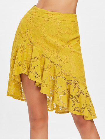 Outfits Lace Flounce Overlay Skirt