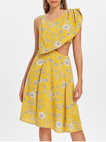 Cheap Floral Sleeveless Swing Dress