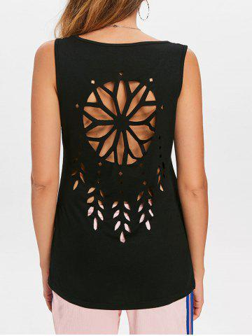 Outfits Hollow Out Dreamcatcher Pattern Tank Top