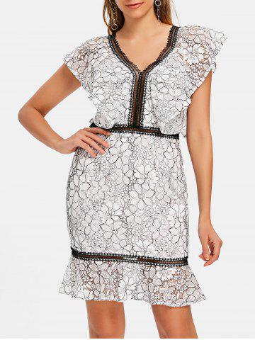 Discount Lace Two Tone Sheath Dress