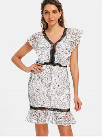 Lace Two Tone Sheath Dress