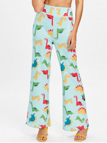 Store High Waisted Cartoon Dinosaur Printed Pants