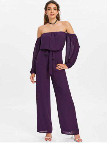 Puff Sleeves Off Shoulder Palazzo Jumpsuit