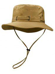 Outdoor Line Embroidery Breathable Bucket Hat -