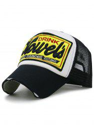 Letter Embroidery Mesh Hunting Hat -