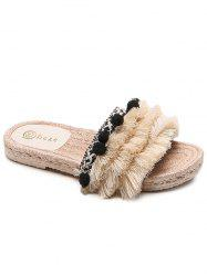 Fluff Tassel Vacation Slippers -