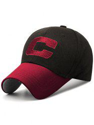 Letter C Embroidery Adjustable Sunscreen Hat -