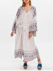 Polka Dot Cover Up Dress with Waistbelt -