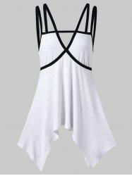 Cutout Strappy Tunic Tank Top -