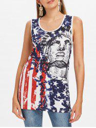 the Statue of Liberty American Flag Tank Top -