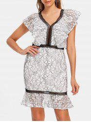 Lace Two Tone Sheath Dress -