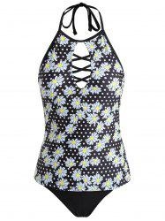 Tankini Floral à Taille Bas -