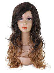 Long Side Fringe Colormix Wavy Synthetic Wig -