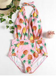 Pineapple Low Back Swimsuit -
