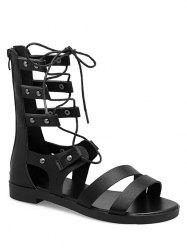 Lace Up Cross Gladiator Sandals -