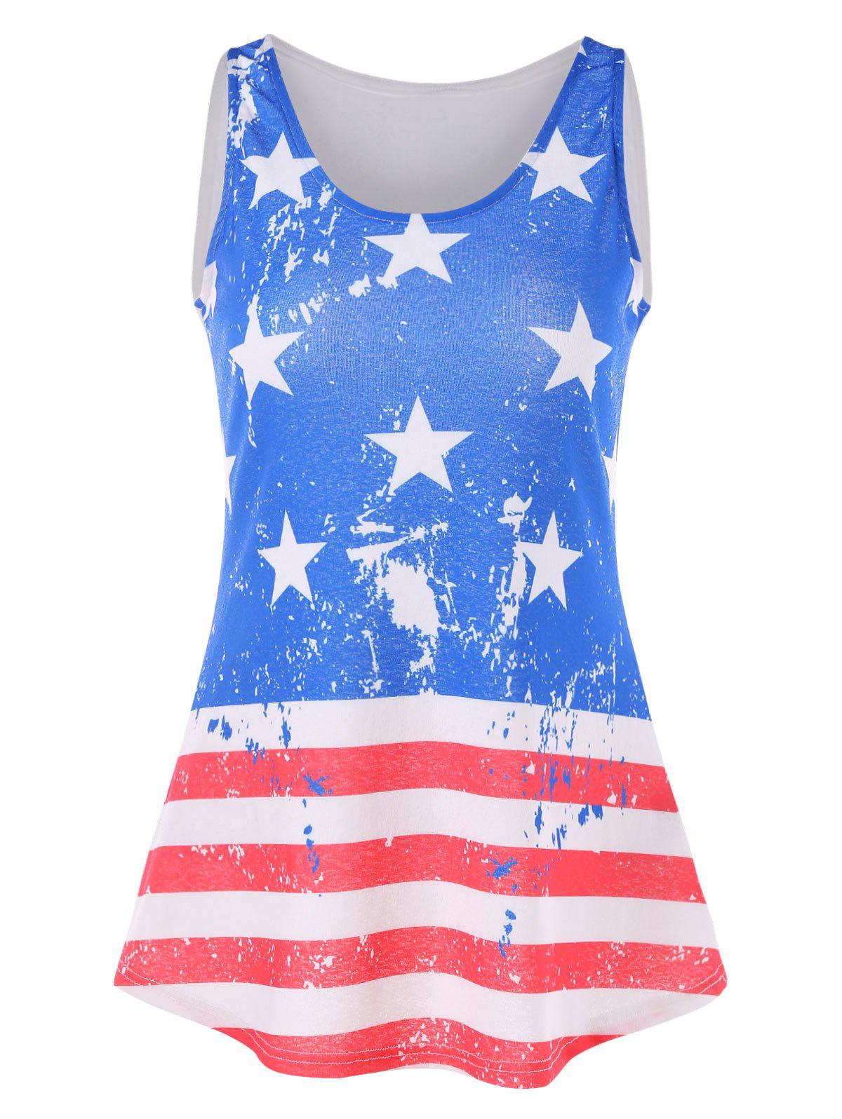 New American Flag Swing Tank Top