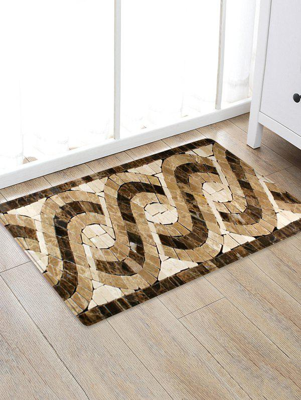 Latest Uhommi Glazed Tile Patterned Skidproof Floor Mat