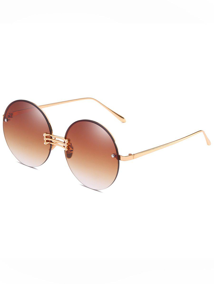 Hot Vintage Rimless Circle Sun Shades Sunglasses