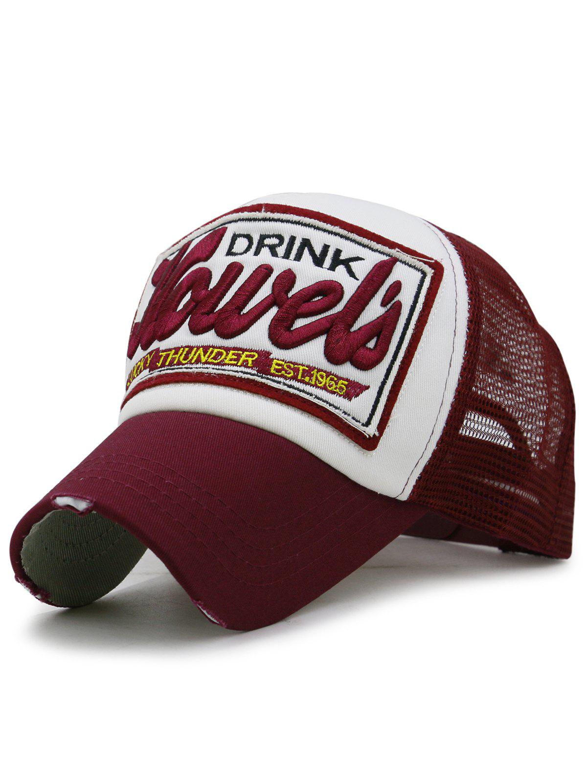 Hot Letter Embroidery Mesh Hunting Hat