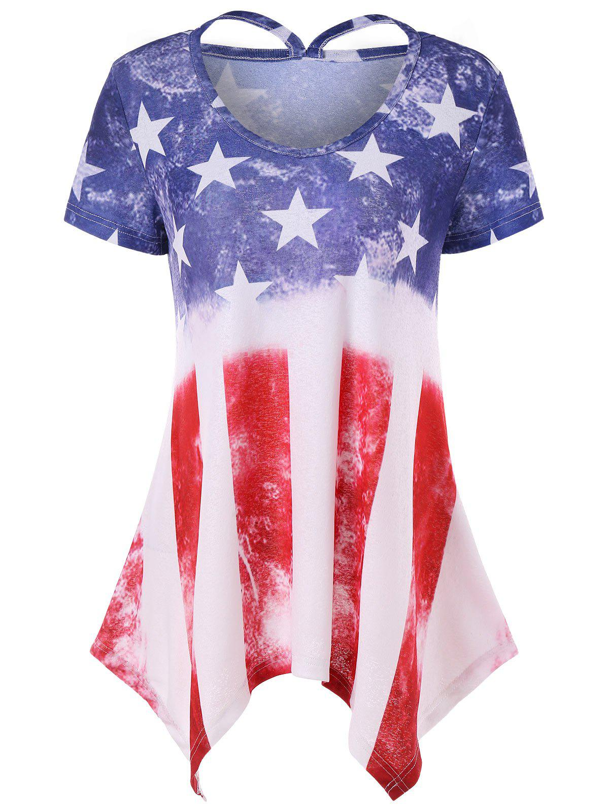 New American Flag Short Sleeve T-shirt