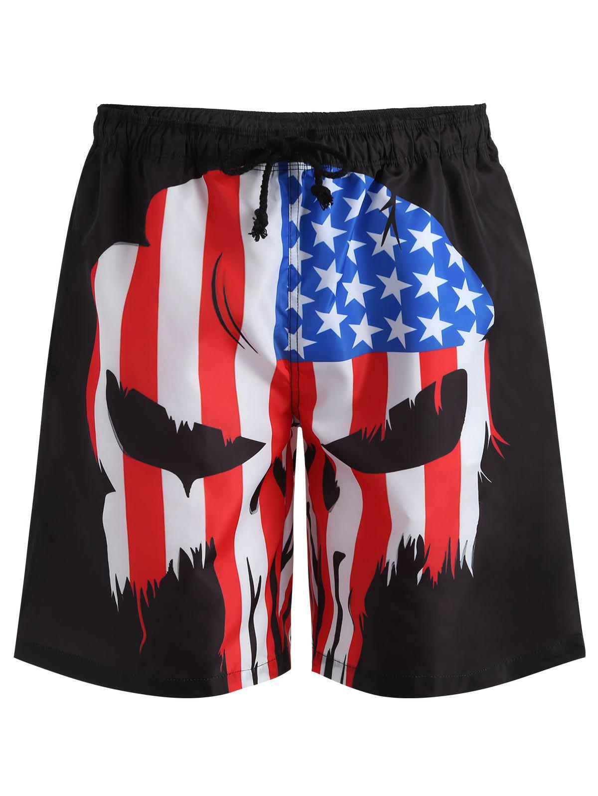 Hot American Flag Pattern Swim Trunks