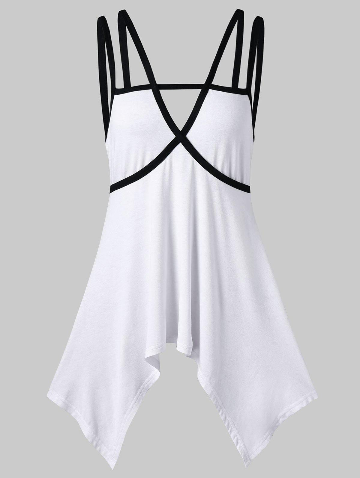 Trendy Cutout Strappy Tunic Tank Top