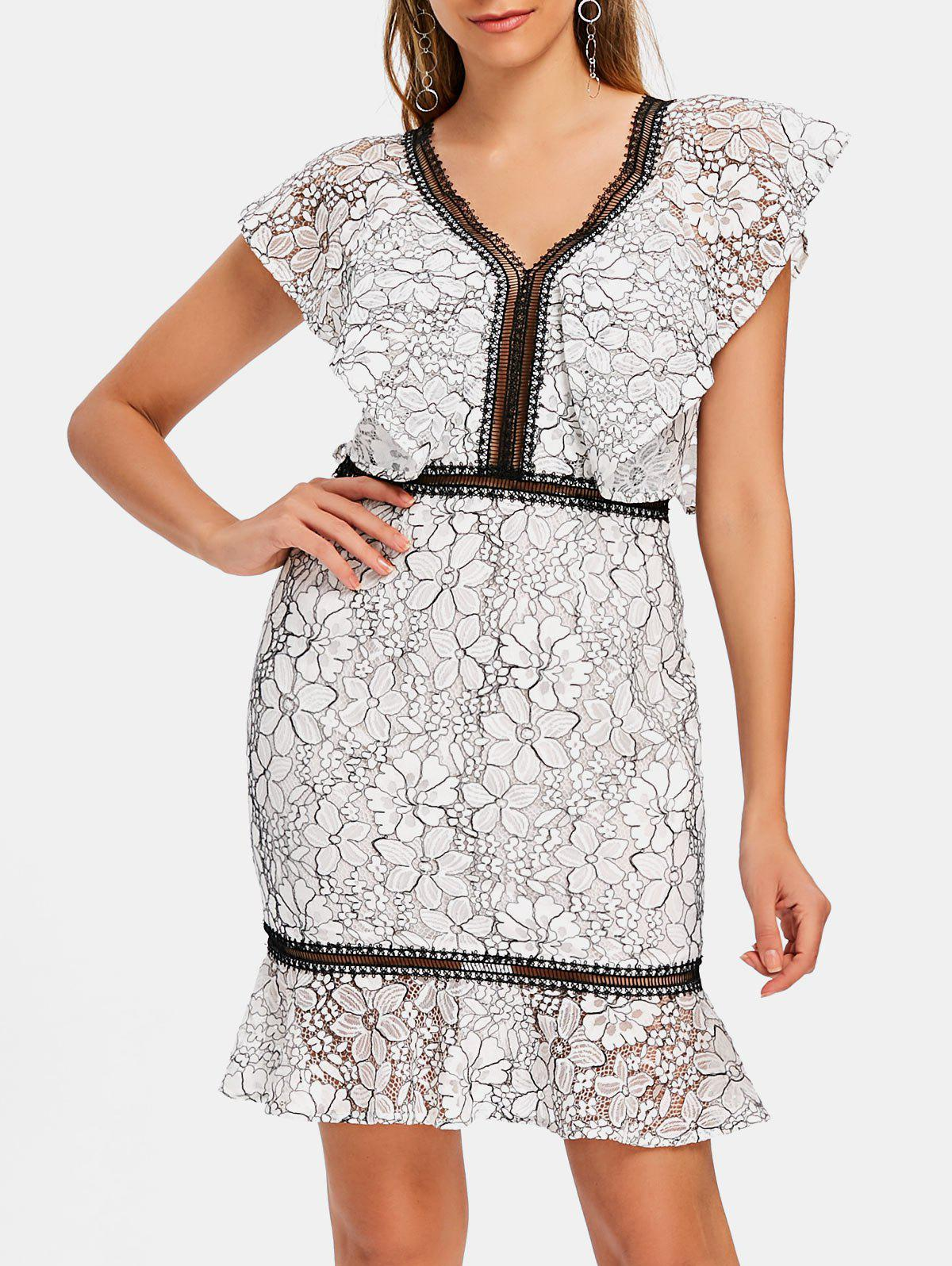 Shops Lace Two Tone Sheath Dress