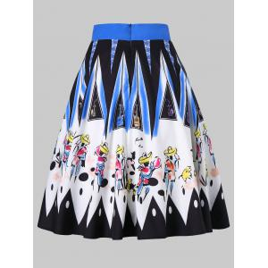 Brushwork Graphic Colorful Skirt -