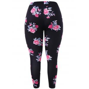 Plus Size High Rise Printed Leggings -