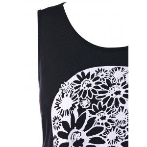 Plus Size Floral Skull Tank Top -