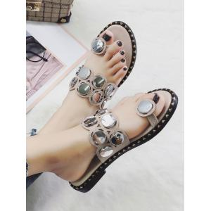 Anti Slip Clip Toe Button Decorate Тапочки -
