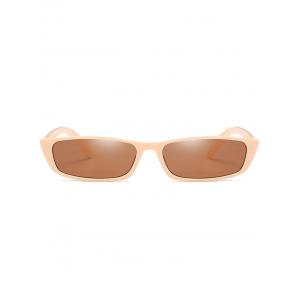 Anti UV Full Frame Flat Lens Rectangle Sunglasses -