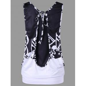 Music Note Graphic Tank Top with Camisole -